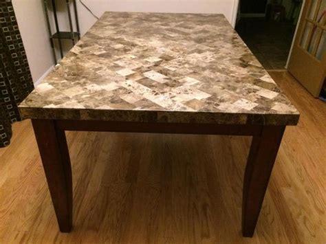 Real Marble Dining Table Real Marble Dining Table In Excellent Condition Saanich
