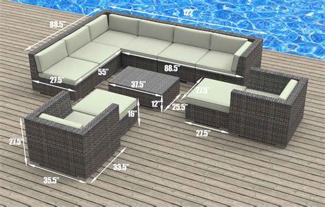aruba 11pc ultra modern wicker patio set www