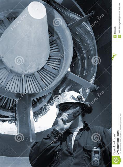 Turbine Engine Mechanic by Mechanic And Jet Engines Stock Images Image 17657734