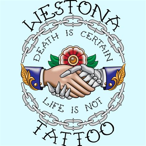 death is certain life is not tattoo westona is certain is not blk font t