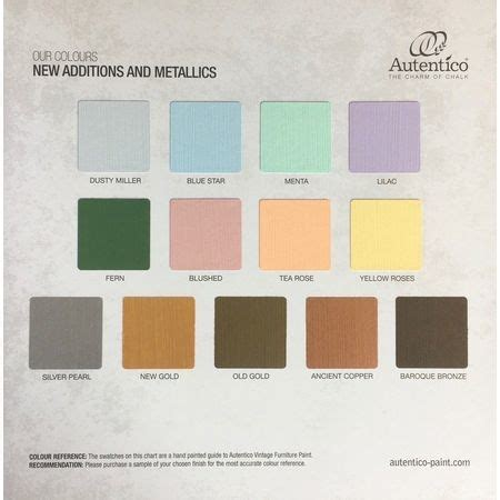 autentico chalk paint next day delivery autentico colour chart new additions and metallics only