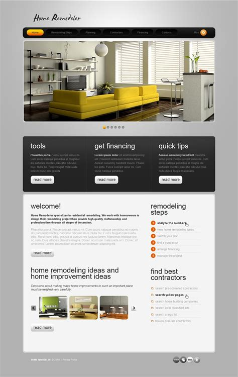 home remodeling website template 31795