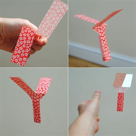 How To Make Easy Paper Toys - paper toys whirlybird minieco