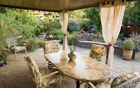outdoor patio drapes create a dramatic look to your patio with the outdoor
