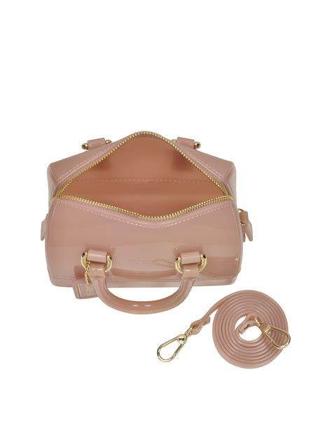 Furla Jelly Bag Preloved furla moonstone jelly rubber sweetie mini satchel in pink lyst