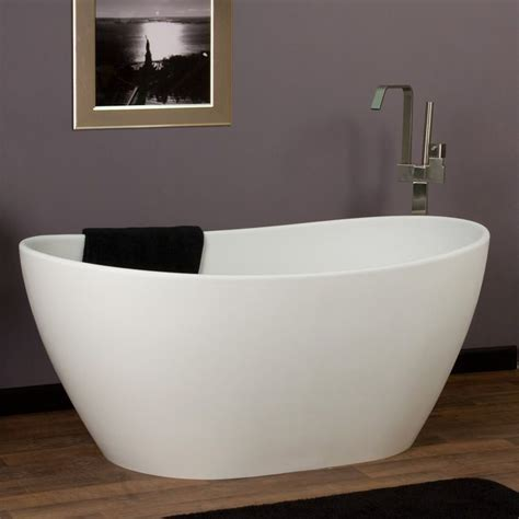 resin bathtub photos 56 quot winifred freestanding resin tub signature