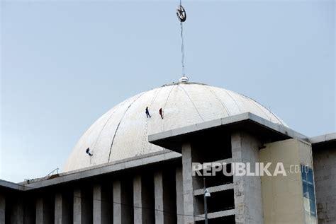 desain masjid istiqlal kubah penambah keindahan arsitektur masjid berita liputan