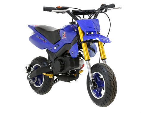 mini motocross funbikes super motard 50cc 48cm petrol blue mini moto bike