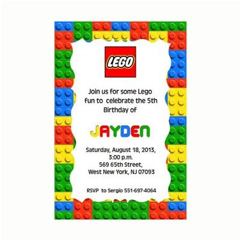 lego invitation card template 25 best ideas about lego birthday invitations on