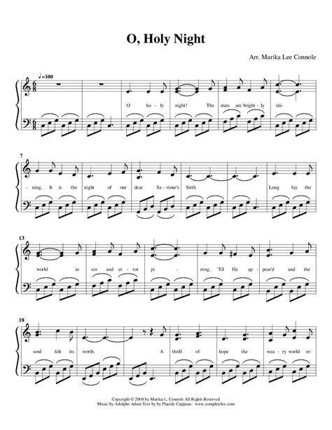 printable sheet music for o holy night oh holy night vocal sheet music holyadolphe charles adam