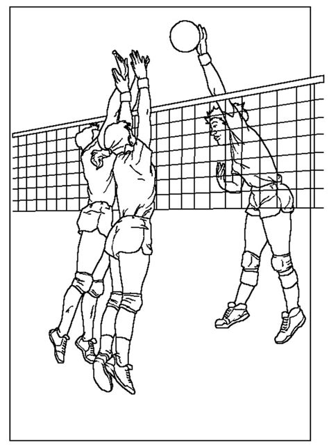 Coloring Pages Of Volleyball Players | free coloring pages of play volleyball