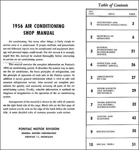 service manual auto air conditioning service 2000 pontiac sunfire regenerative braking 2000 1956 pontiac air conditioning repair shop manual original
