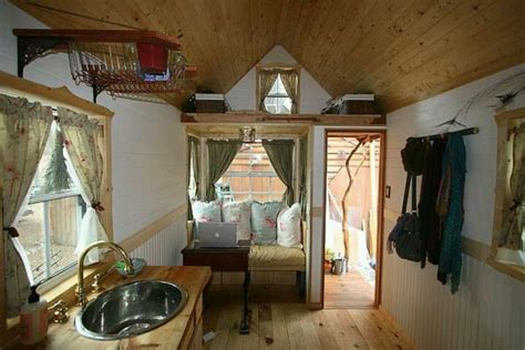 interior of fencl tumbleweed wee house interior pinterest inside house on wheels tiny houses and living small