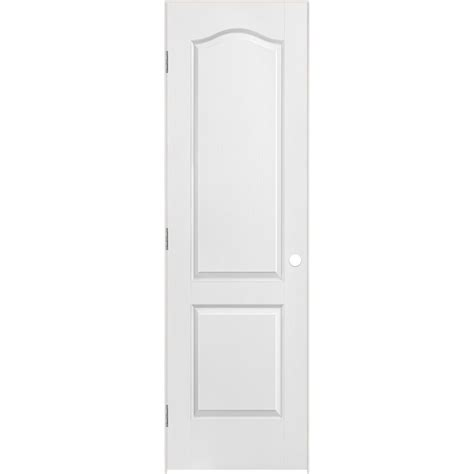 24 Inch Closet Door Masonite 24 Inch X 80 Inch Lefthand 2 Panel Arch Top Textured Prehung Interior Door The Home