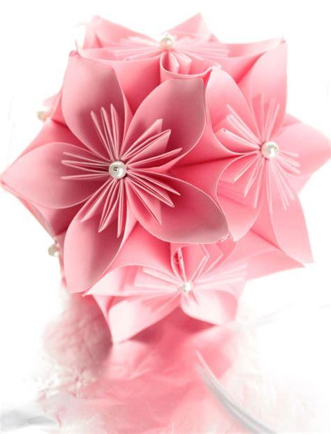 Pink Origami Paper - pink kusudama hanging japanese origami paper