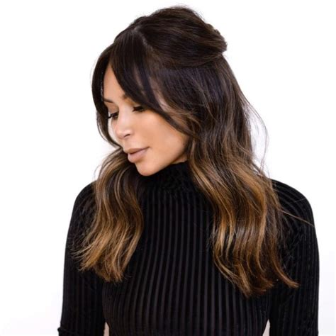 hairstyles with bangs and middle part best 25 middle part bangs ideas on pinterest middle