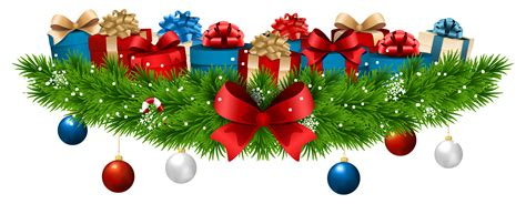 christmas decoration with gifts png clip art image