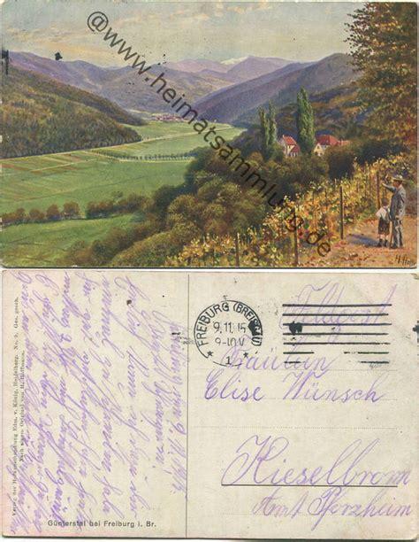 Postkarten Drucken Freiburg historische ansichtskarten g 252 nterstal