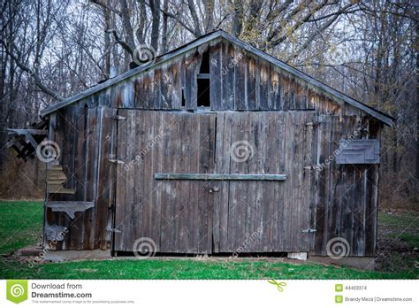 wooden tin barn shed stock photo image 44403374