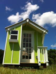 lime green 72 sqr ft tiny house by trekker trailers