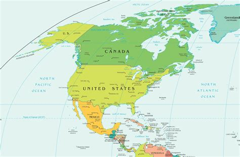 america map countries and capitals map of america with countries and capitals