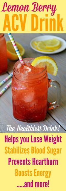 Ch Detox Drink Ingredients by Healthy Berry Lemon Acv Drink For Weight Loss