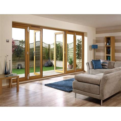 Oak Sliding Patio Doors Lpd External Un Finished Oak Folding Sliding Patio Doors Buy Now Leader Doors