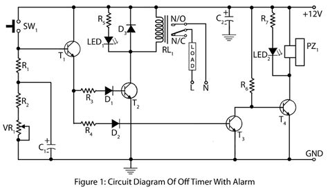 timer with alarm electronics project