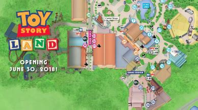 check out the new park maps that include toy story land!