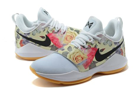new jordans shoes for nike pg 1 floral print white shoes for sale new