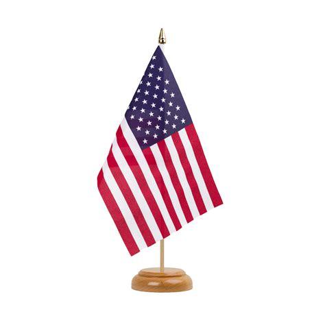 drapeau de table usa 15 x 22 cm bois monsieur des