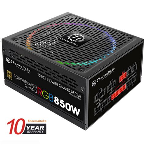 Thermaltake Toughpower Grand Rgb 650w 80 Gold Modular Analog thermaltake toughpower grand rgb 850w smart zero fan sli crossfire ready continuous power atx12v