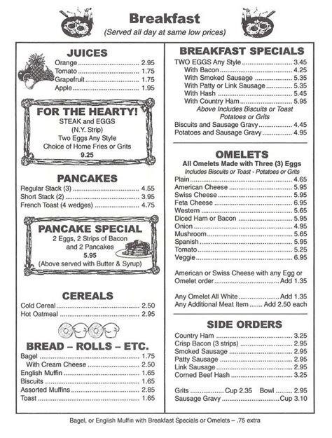 Garden Grille Menu by Menu For The Garden Grill 6175 Sw 45th St