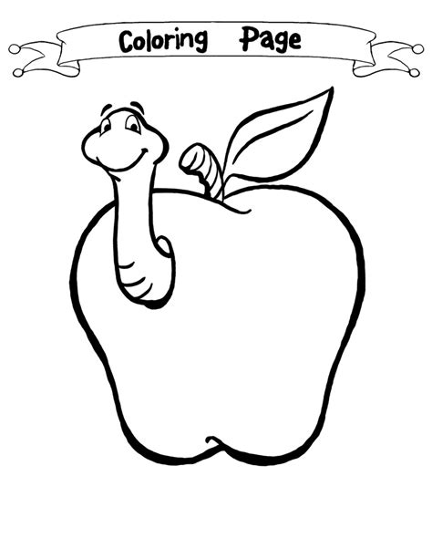 coloring pages of apples with worms apple coloring clipart 66