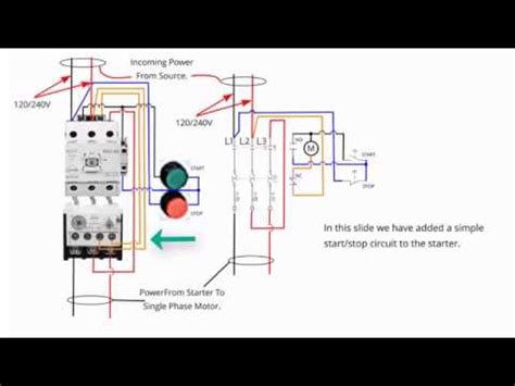 single phase starter wiring diagram efcaviation