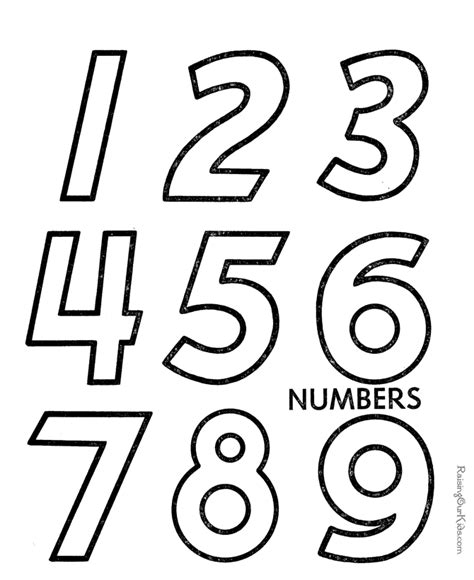 printable numbers toddlers number coloring pages for toddlers coloring home