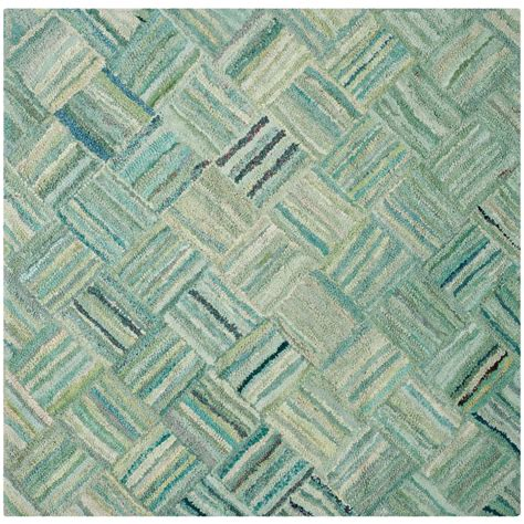Safavieh Nantucket Green Multi 6 Ft X 6 Ft Square Area 6 X 6 Area Rugs