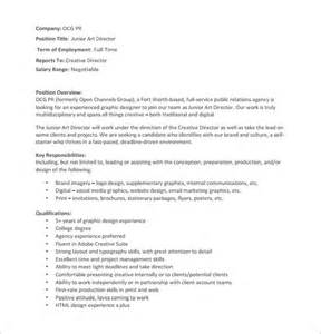 office junior description template director description template 8 free word pdf