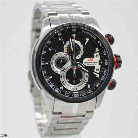 Chronoforce Black White Original jual jam tangan pria chronoforce 5268ms silver black baru