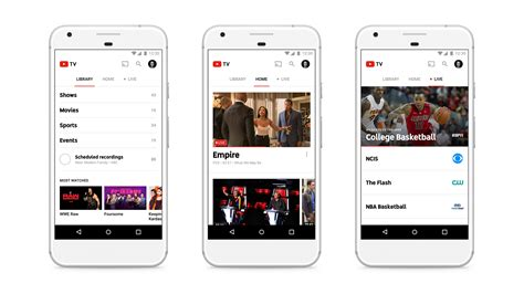 youtube moblie youtube tv 35 per month with 40 channels unlimited dvr