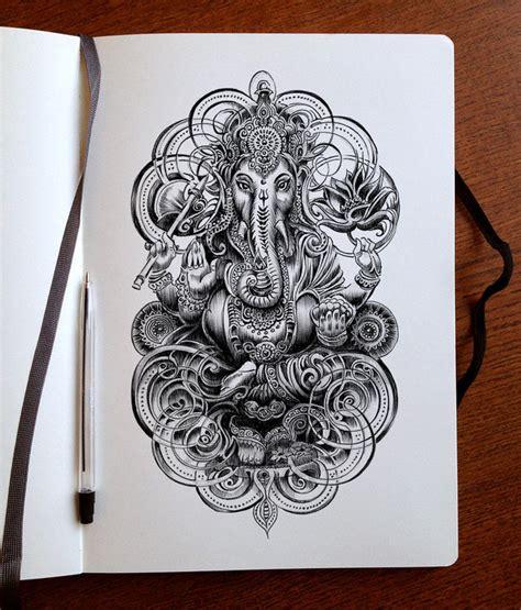 ganesh mandala tattoo ganesha ink by bennett klein on deviantart