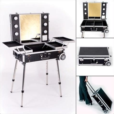 travel vanity with lights makeup vanity travel station with artist lights