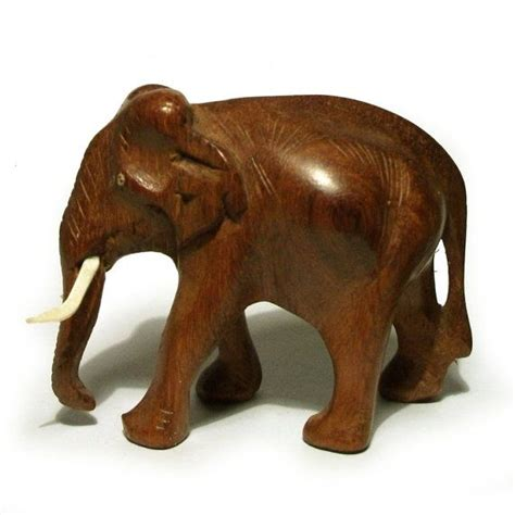 Outfitters Camel Wood Ring On Sale by Wooden Elephant Figurine Vintage Carved Safari Animal