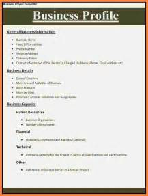 6 business profile sle doc bussines 2017
