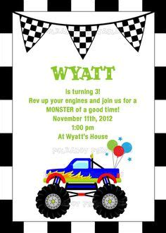 printable monster jam birthday cards free monster truck printable papercrafts printables