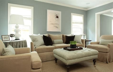 goforth design lovely transitional blue beige living room with blue gray walls paint