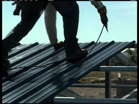 metal building installation step  roof panels youtube