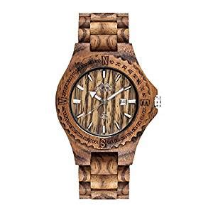 Handmade Watches Uk - amexi handmade s wooden watches calendar with