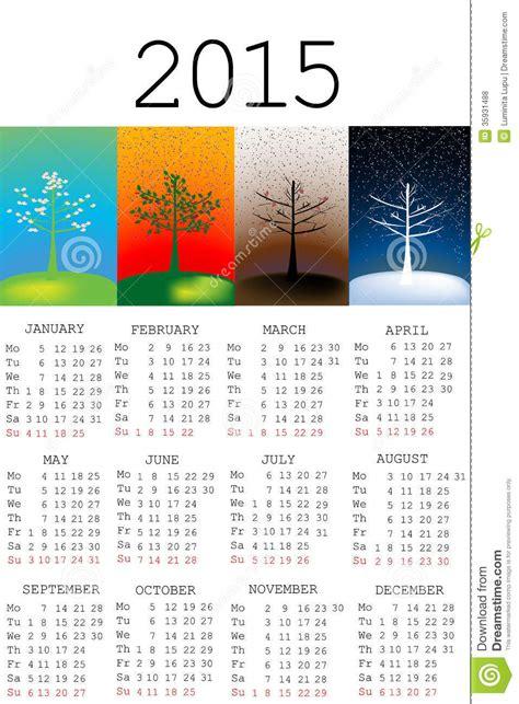 Calendrier 2015 How I Met Your De Kalender 2015 Met Seizoenen Royalty Vrije Stock