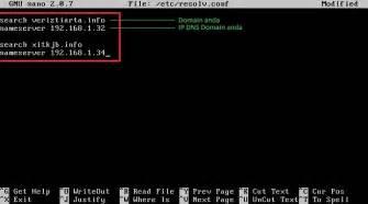 cara konfigurasi dns server di linux debian setting dns server debian ainur842
